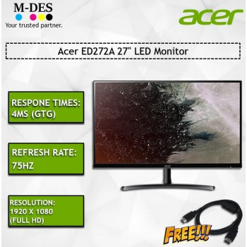 "Acer ED272A 27"" LED Monitor"