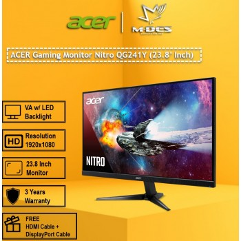 """Acer 23.8"""" Gaming Monitor Nitro QG241Y"""
