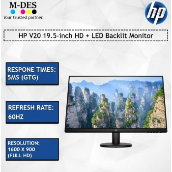 HP V20 19.5-inch HD + LED Backlit Monitor