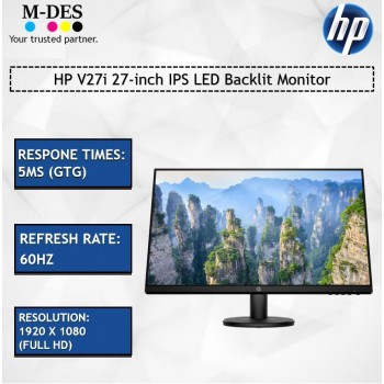 HP V27i 27-inch IPS LED Backlit Monitor