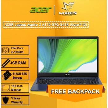 ACER Laptop Aspire 3 A315-57G-541R (Core i5) - Indigo Blue