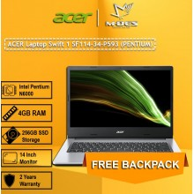 Acer Notebook Swift 1 (SF114-34-P593) - Pure Silver