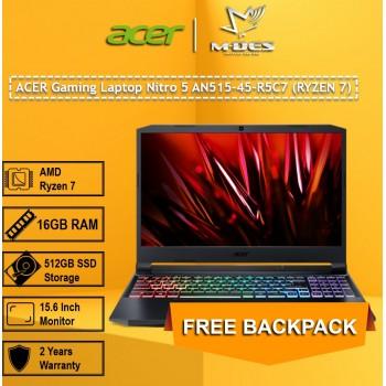 ACER Gaming Laptop Nitro 5 AN515-45-R5C7 (RYZEN 7) - Black Red