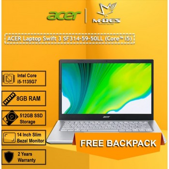 ACER Laptop Swift 1 SF314-59-50LL (Core i5) - Pure Sliver