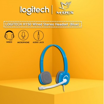 Logitech H150 Stereo Headset with Noise-Cancelling Mic (Blue)