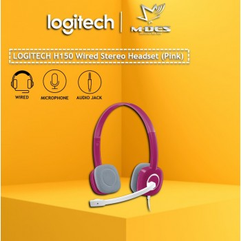 Logitech H150 Stereo Headset with Noise-Cancelling Mic (Pink)