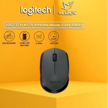 Logitech M170 Wireless Mouse (Black)