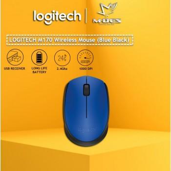 Logitech M170 Wireless Mouse (Blue)
