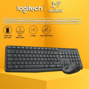 Logitech MK235 Wireless Combo (Black)
