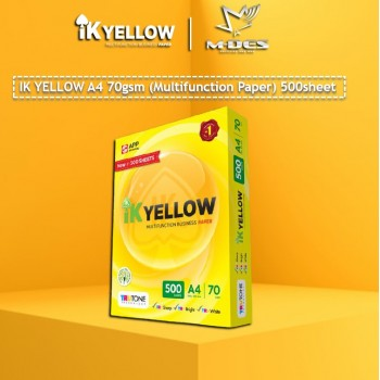 IK YELLOW A4 Paper 70gsm (500's)