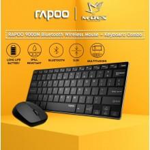 RAPOO 9000M 2.4G Wireless Multi Mode Keyboard + Mouse Combo Set