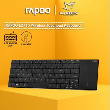 RAPOO E2710 Wireless Multi-media Touchpad Keyboard Multimedia Touchpad Keyboard