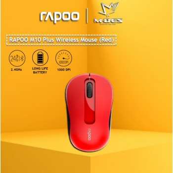 RAPOO M10plus 2.4G Wireless Mouse (Red)