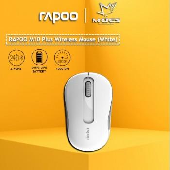 RAPOO M10plus 2.4G Wireless Mouse (White)