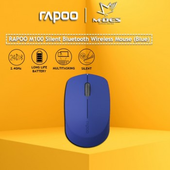 RAPOO M100 SILENT 2.4G Wireless Mouse (BLUE)