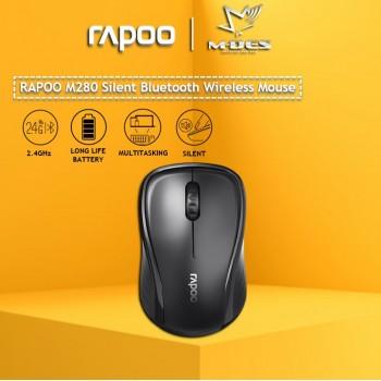 RAPOO M280 Multi-mode Wireless Mouse Bluetooth 3.0/4.0 + 2.4GHz Silent Wireless
