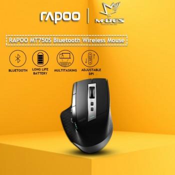 Rapoo MT750s Laser Tri Mode Multi Mode Wireless Mouse Black