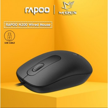 RAPOO N200 Wired Optical Mouse