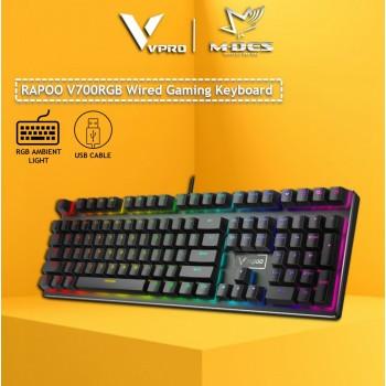 RAPOO V700RGB Backlit Mechanical Gaming Keyboard (Black)