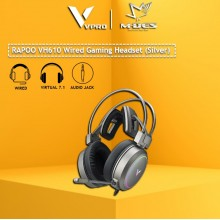 RAPOO VH610 VIRTUAL 7.1 CHANNELS WIRED GAMING HEADSET (Silver)