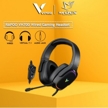 RAPOO VH700 Virtual 7.1 Channels Gaming Headset (Black)