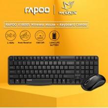 [Waterproof] RAPOO X1800S Wireless Mouse + Keyboard (Combo Set)