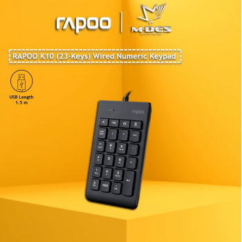 Rapoo K10 Numeric 23keys Wired Keyboard Black