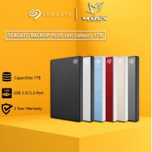 Seagate Backup Plus 1TB Slim Portable Drive