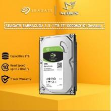 Seagate Barracuda 3.5'' 1TB Internal Hardisk . STORAGE ST1000DM010 For Desktop