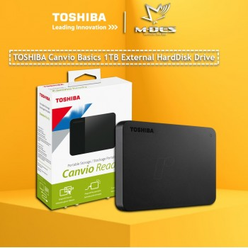 Toshiba Canvio Basics 1TB USB 3.0 Portable External Hard Disk Drive - Black 1 TB HDD EXTERNAL HARDISK