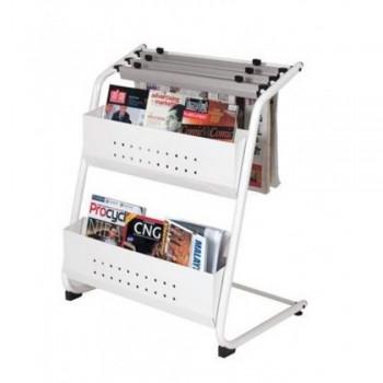 Newspaper & Magazine Rack NM323 - 700W x 500D x 900H (Item No: G05-34) A6R1B19