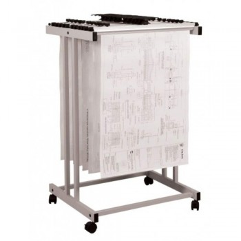 Plan Hangers Stand PHS299 - Top Loading - A0 Size - 20 Hangers (Item No: G05-11)  A6R1B20