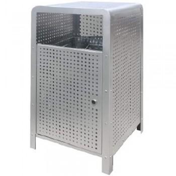 Stainless Steel Rectangular Waste Bin c/w Open Top-SQB-156/SS (Item No.G01-282)