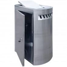 Stainless Steel Rectangular Waste Bin c/w Swing Top-RFT-155/SS (Item No.G01-284)