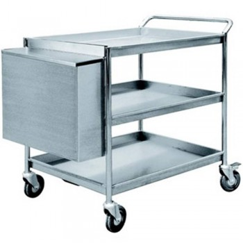 S.Steel 3 Tiers Trolley 3TT-1108/SS (Item No:G10-229)