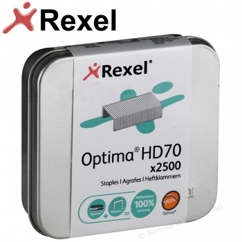 Rexel Optima HD70 Staples - 2500 Tin