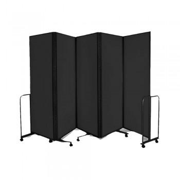 WP-LB5-V02 LAMBO PANELS Black - Panel Size :61cm x 180cm x 5Panels | Folded size : 68 x 194x 54CM | Open Length : 310cm (Item No : G05-155)