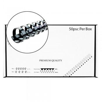 M-Bind Plastic Binding Comb - 25mm x 21 Ring, 50pcs/box, Black