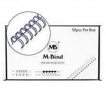 "M-Bind Double Wire Bind 2:1 A4 - 5/8""(16mm) X 23 Loops, 50pcs/box, Blue"