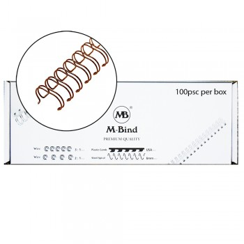 "M-Bind Double Wire Bind 3:1 A4 - 5/16""(8mm) X 34 Loops, 100pcs/box, Bronze"