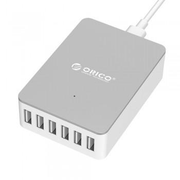 Orico DHE-6U 50W 6 Port Smart Desktop USB Charger - White