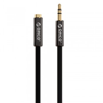 Orico FMC-10 1M 3.5mm Male To Female AUX Cable - Black
