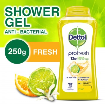 Dettol Anti-Bacterial Shower Gel Fresh 250ml