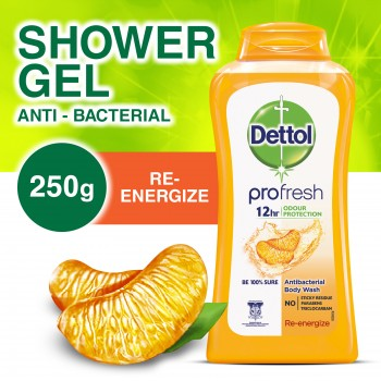 Dettol Anti Bacteria  Shower Gel Re-Energize 250ml