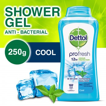 Dettol Anti-Bacterial Shower Gel  Cool 250ml