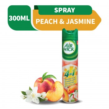 Air Wick 4 in 1 Air Freshener Aerosol Peach Jasmine 300ml