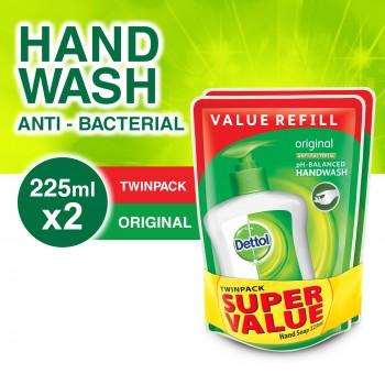 Dettol Hand Wash Original Refill Pouch Twin Pack 2 x 225ml