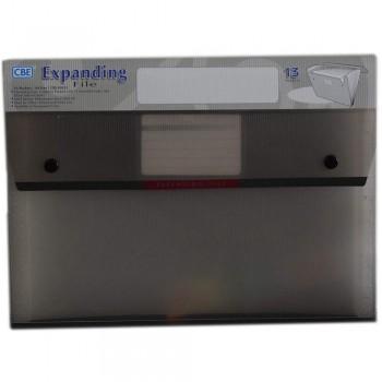 CBE 4315 13P Expanding File (A4) Grey (Item No: B10-124 GY)
