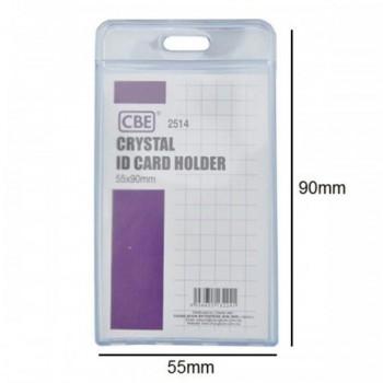 CBE 2514 Crystal ID Card Holder - 55 x 90mm