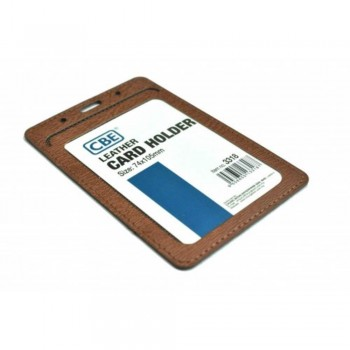 CBE Leather Card Holder 3318 - Brown (Single Sided) (Item no: B10-42 BR) A1R3B64